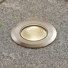 LED-bakkespot Sulea rustfritt stål IP67 rund