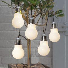 LED-lyslenke Glow, batteri, hvit
