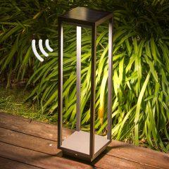 LED-sokkellampe solcelle Saura, bevegelsessensor