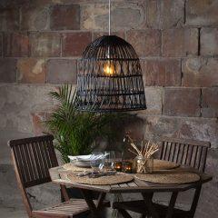 Lampeskjerm Knute, uten fatning, Ø 48 cm, svart