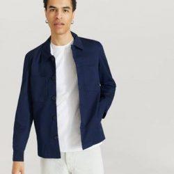 Les Deux Jakke Marseille Linen Jacket Blå