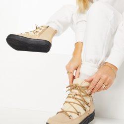 London Rebel snow boots in beige