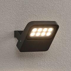 Lucande Kyrilo utendørs LED-spot, 8 LED-er