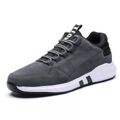 Men Microfiber Leather Lace Up Sport Casual Sneakers