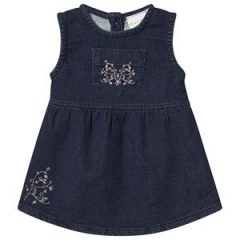 Minymo Embroidered Denimkjole Outer Space 62 cm (2-4 mnd)