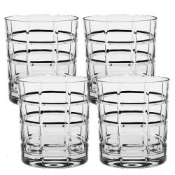 Modern House Time Square Whiskyglass Klar 32 cl Krystall 4stk