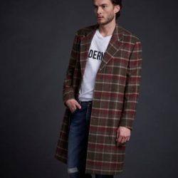 Modernist Frakk Wool Coat Plaid Grønn