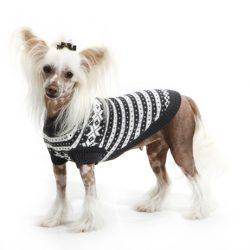 Mørk grå fanakofte for hund 70% ull