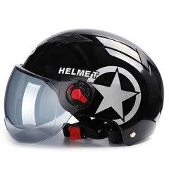 Motorcycle Helmets Electric Bicycle Helmet Open Face Dual Lens Visors Men Women Summer Scooter Motorbike Moto Bike Helmet