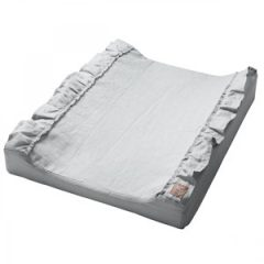 NG Baby Mood Ruffles Standard Changing Pad Light Grey One Size