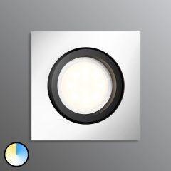 Philips Hue Milliskin LED-downlight kantet, alu