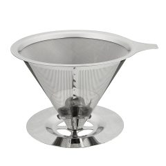 Pour-Over Coffee Dripper Stainless Steel Double Layer Mesh Filter Paperless Kitchen Tools