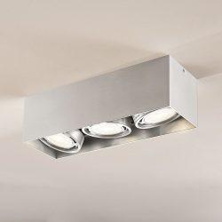 Rosalie LED-downlight 3 lyskilder kantet alu