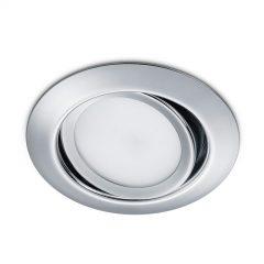 Rundt LED-downlight Rila, krom