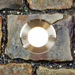 Rustfritt stål – moderne LED-bakkespot LED 18