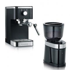 Salita Manuell Espressomaskin og Kaffekvern Sett