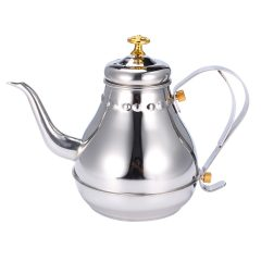 Silver 1.2L Capacity Stainless Steel Coffee Drip Kettles Tea Filter Pot Teahouse