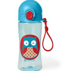 Skip Hop Zoo Lock-Top Sports Bottle Owl One Size