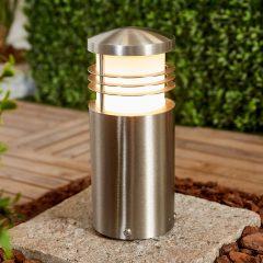 Sokkellampe Adenika i rustfritt stål, V4A