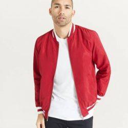 Studio Total Bomberjakke Varsity Jacket Rød