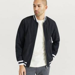 Studio Total Bomberjakke Varsity Jacket Svart