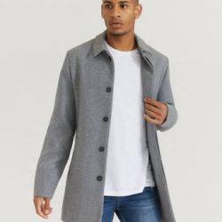 Studio Total Frakk Clean Wool Coat Grå
