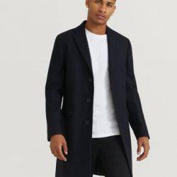 Studio Total Frakk Lambton Wool Coat Blå