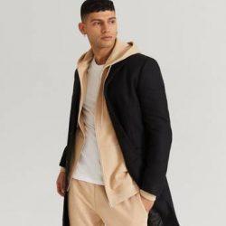 Studio Total Frakk Lambton Wool Coat Svart