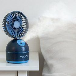 Vooni® vifte med luftfukter - Blå