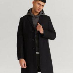 William Baxter Frakk Dean Wool Coat Svart