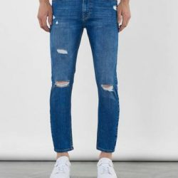William Baxter Jeans Toby Skinny Cropped Jeans Blå