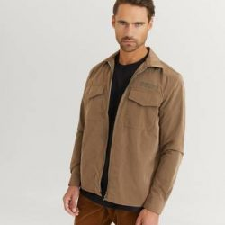 Woodbird Overshirt Klarc Zip Shirt Brun