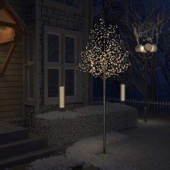 vidaXL Juletre 600 lysdioder varmhvitt lys kirsebærblomst 300 cm