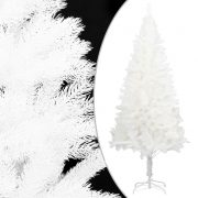 vidaXL Kunstig juletre med stativ hvit 120 cm PE