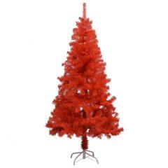 vidaXL Kunstig juletre med stativ rød 150 cm PVC