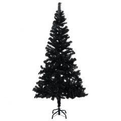 vidaXL Kunstig juletre med stativ svart 150 cm PVC