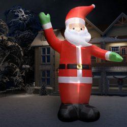 vidaXL Oppblåsbar julenisse med LED IP44 10 m XXL