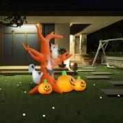 vidaXL Oppblåsbart Halloween-spøkelsestre med gresskar 6 LED 2,6 m