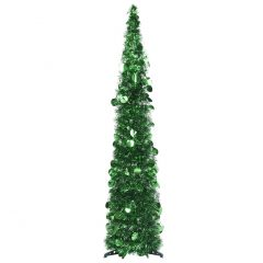 vidaXL Pop-up kunstig juletre grønn 120 cm PET
