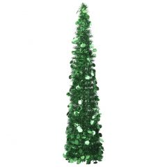 vidaXL Pop-up kunstig juletre grønn 150 cm PET