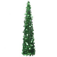 vidaXL Pop-up kunstig juletre grønn 180 cm PET