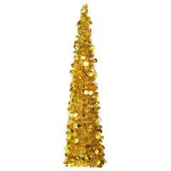 vidaXL Pop-up kunstig juletre gull 150 cm PET