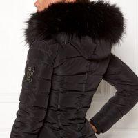 Chiara Forthi Chiara Faux Fur Collar Black One size