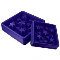EAT SLOW LIVE LONGER Matskål spis langsomt Star blå S