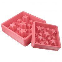 EAT SLOW LIVE LONGER Matskål spis langsomt Star rosa L