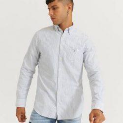 Gant Skjorte Reg Oxford Banker BD Blå