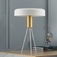 Lucande Filoreta hvit bordlampe