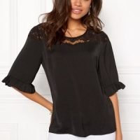OBJECT Fae 2/4 Lace Top Black 34