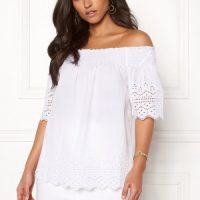 ONLY Shery Anglaise Top White 34