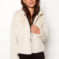 ONLY Vida Faux Fur Jacket Pumice Stone L